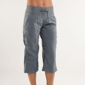 Lululemon studio crops grey unlined size 6
